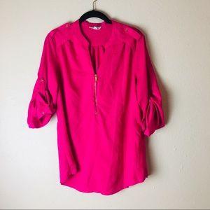 Hot Pink Calvin Klein Blouse